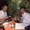 Having dinner with one of my best friend Junichi Kawai. He is legendary paralympian in Japan!